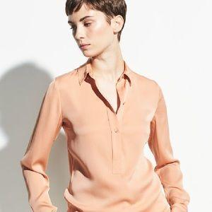 Vince slim fit silk shirt size 4 NWT